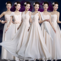 Wholesale Knee Length Womens Formal Shorts - 2016 Full Lace Wedding Dresses Womens Bridesmaid dresses One shoulder Party Long Dresses Formal Gown