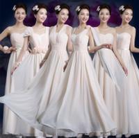 Wholesale Short Flower Skirt Bridesmaids Dresses - 2016 Full Lace Wedding Dresses Womens Bridesmaid dresses One shoulder Party Long Dresses Formal Gown