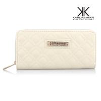Wholesale kardashian wholesale - 2pcs New Brand kim kardashian Kollection Wallets Women Zipper Coin Bag Card Holder Coin Pocket long Travel Wallet luxury ladies party purse