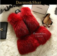 Wholesale Hot Pink Faux Fur Coat - Free shipping Hot selling Fur coat New design fur vest Women's fashion Faux fur vest Luxury new arrive casaco de pele senhora