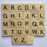 ingrosso blocchi di alfabeti-Alfabeto in legno Scrabble Tiles Kids Intelligence Development Multi Function Bambino Alfabetizzazione Puzzle Block Alta qualità 7xp C R