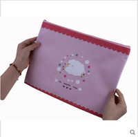 Wholesale Cute Character Oxford Fabric A4 File Holder For Document Office Supplies Carpetas Stationary Pocket A4 Women Envelope Bag