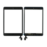 Wholesale ipad mini home - 20PCS Free DHL 100% Tested For iPad mini 1 mini 2 Touch Digitizer Screen With IC & Home Button Flex Cable
