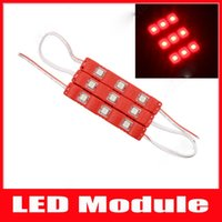 Wholesale Clear Lens Cover - 5050 3LEDs Led Modules Lights With clear Cover Lens Waterproof Injection ABS Led Lights Modules 12V Best For Billboard Backlight