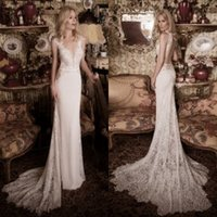 Wholesale Lace Wedding Dress Princess Cut - Lace Wedding Dresses Backless Bridal Gowns 2016 New Arrival Spring Beach Wedding Gowns Deep V Neck Side Cut Out Sexy Princess Gowns