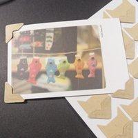 adesivo de canto de foto diy venda por atacado-5 Cores Adesivos DIY Clássico Scrapbook Photo Album Quadro de Canto Etiqueta PVC Papel Etiqueta Home Decor 24 Pçs / lote