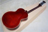 Wholesale Jazz Guitar Sale Wood - Hot Sale Semi Hollow Tiger stripes maple P90 pickup sunlight Jazz Electric Guitar 6 Strings Guitars Have Hard Case
