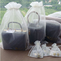 Wholesale Large Jewelry Pouches - Large Organza Drawstring Bags 30x40cm pack of 50 Clear Sales Promotion Packaging Pouch