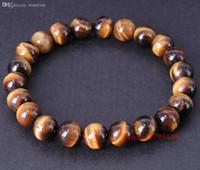 Wholesale Top Handmade Bracelets For Women - Wholesale-Handmade Bracelet 8mm Top Grade African Brown Tiger Eye for Men & Women