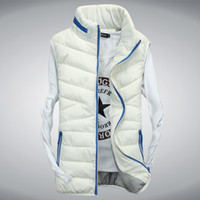 Wholesale Eiderdown Coat - Fall-New winter vest for men and women lovers eiderdown cotton collar thickening vest men sports fashion tank top coat