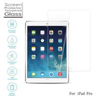 película de pantalla portátil al por mayor-Portátil 9H 0.33 mm Protector de película de cristal templado ultra fino para la pantalla del iPad Pro 12.9 pulgadas