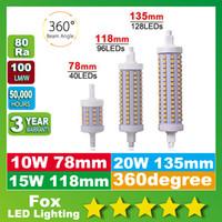 Wholesale R7s 118mm - R7S led bulbs 78mm J78 118mm 135mm 10W 15W 20W SMD2835 LED Lamp Bulb R7S Light 360 Degree lighting lamps Halogen Lamp Floodlight
