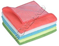 Wholesale Sinland Microfiber Inchx12Inch cmx30cm Kitchen Dish Cloth With Poly Scour Side Kitchen Dish Towels Assorted Color drop shipping