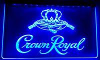 signes royaux de couronne achat en gros de-LS018 Bar à bière Crown Royal Derby Whiskey NR