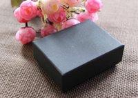 en iyi mücevher kolye toptan satış-Yüksek dereceli mücevher kutusu Klasik Siyah Tuval kolye kutusu Yüksek Kalite Kolye Küpe Takı Paketi Için En Iyi Takı