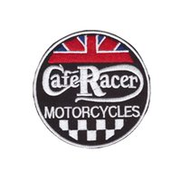 yuvarlak yama toptan satış-Işlemeli Logo Tasarımları Yama CafeRacer Motosikletler Yuvarlak Toppa Ricamata Ceket için Demir on patch Ceket Kot Giyim Rozeti