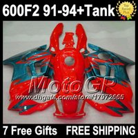 7gifts NOUVEAU Red Pour HONDA CBR600F2 1992 Kit 1993 91 92 93 94 + Free Red Green CBR 600 G1923 CBR600 F2 1991 1994 CBR 600F2 Top Carénage