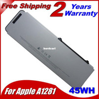 """Wholesale Battery A1281 - Free shipping- 45WH Laptop Battery For Apple MacBook Pro 15"""" A1281 A1286 (2008 Version) MB772 MB772* A MB772J A MB470J A MB471X A 10.8V"""