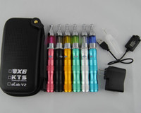 x6 buharlaştırıcı başlatma seti toptan satış-EGo X6 Değişken Gerilim 1300 mah Pil başlangıç kitleri Elektronik Sigaralar Protank Buharlaştırıcı Clearomizer Atomizer vape kalem mods Vaka Kiti