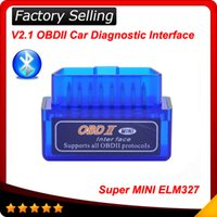 Wholesale bmw work - 2016 V2.1 Super Mini ELM327 Bluetooth Interface obdii obd ii Diagnostic Tool elm 327 works on Android Windows Symbian
