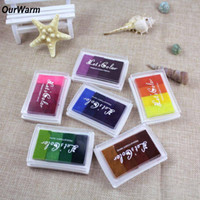 Wholesale Rubber Stamping Wholesale - DHL Ship Christmas DIY Craft Supplies 6Pcs lot DIY Oil Rubber Stamps Kids Birthday Party Supplies New Year Decorations for Home