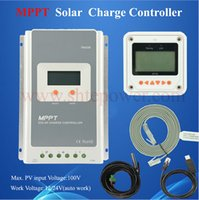 Wholesale Solar Tracer - Tracer 4210A 12v 24v mppt solar controller 40A With Meter LCD and USD and Temperature Sensor