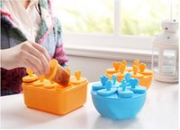 Wholesale Ice Maker Box - Wholesale 100Pcs Ice Mould Ice Cube Tray Box Forzen Lid Pop Mold Popsicle Maker Pattern Ice Cream Tray Pan Kitchen DIY #9147