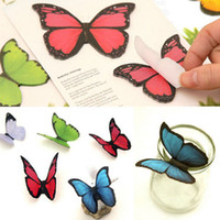 Wholesale-40 Seiten / bag Schmetterlings-Aufkleber Klebrige Bookmark Marker Memo Index Tab Flaggen Haftnotizen