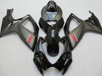 Wholesale Suzuki Gsxr Fairing K6 - Matte Glossy Black injection molded fairing for suzuki 2006 2007 GSXR 600 750 K6 GSXR600 GSXR750 06 07 R600 R750 full fairing kit
