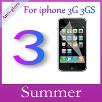 Wholesale Iphone 3g Screen Film - Wholesale-Matte Anti-Glare Anti Glare High Quality Screen Protector Protection Guard Film For iPhone 3G 3GS,With Retail Package,3Pcs lot