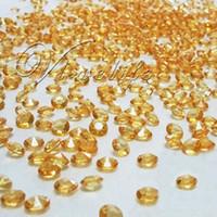 Wholesale Order Confetti - Free shipping&(1000pcs bag) 6.5mm 1CT Gold Diamond Confetti Wedding Decoration order<$18no track