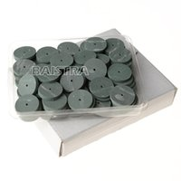 Wholesale Dental Lab Silicone - 100Pc pack dental Lab Rubber Polishing Wheels Burs Silicone Polishers