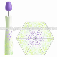 original promotional gifts - Original Rose Bottle Umbrella Green Fireworks Design Parasol Promotional Rain proof Folding Portable Umbrella with Plastic Case