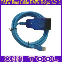Wholesale Enet Cable - High Quality BMW ENET (Ethernet to OBD) Interface Cable With BMW E-Sys 3.24.2 Software Coding And Programming For BMW F Series