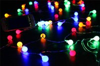 Wholesale Red Chinese String Lights - Wedding Light Wedding Decoration Led Colorful Led 5M 40LED Round Ball Fairy String Light Wedding Christmas Party Outdoor Decor D22