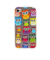 Wholesale Owl Iphone 5c - Wholesale Lovely Owl Hard Plastic Mobile Phone Case Cover For iPhone 4 4S 5 5S 5C 6 6plus