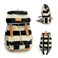 Wholesale Vintage Canvas Backpacks - S5Q Women backpack Vintage Canvas Travel Satchel Shoulder Backpack School Rucksack Bags AAAEMB
