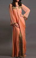 kleider party abend lang renda großhandel-Vestido de Renda Chiffon Langarm Arabisch Dubai Abendkleider Frauen Formelle Kleid Rabatt Kaftan Großhandel Benutzerdefinierte Party Kleider