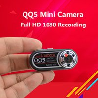 QQ5 Mini Caméra Full HD 1080 P Vision Nocturne Kamera Mini Caméra Caméscope 12MP Webcam 170 Grand Angle Motion Détection Mini Cam