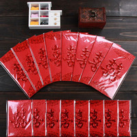 Wholesale Children Bag China - China Traditional Wedding Favor Chinese Red Packet Envelope Gift bag Stamping Happiness Give children lucky money in New year Hot sale