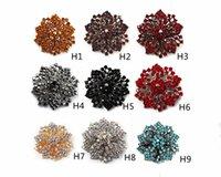 mezcla broches de moda al por mayor-2.2 pulgadas de estilo Vintage Mix Color Rhinestone Crystal Diamante Starfish Party Broche Pins Accesorios de moda