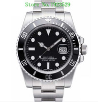 Wholesale ceramic dial - Luxury WATCHES Box Black Ceramic Bezel Dial 116610 16610 Stainless Steel Bracelet Automatic Mens Men's Watch Watches Man Wristwatch