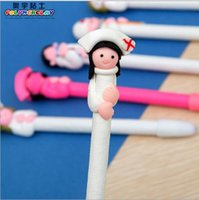 Wholesale Ball Pottery - Clay style ball pen doctors and nurses series soft pottery clay ballpoint pen, 100 pieces   lot