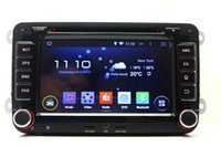 reproductor mp3 de golf al por mayor-Android 5.1 Car DVD Player para VW Volkswagen Passat Polo Golf Beetle con navegación GPS Radio WiFi BT TV USB MP3 Estéreo