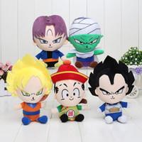 Wholesale Dragon Ball Z Plush - 50pcs lot 7'' 18cm Dragon Ball Z Figures Plush Doll Pendant Toys Super Saiyan Goku  Piccolo Trunks Figure Plush Doll Toys 1206#06