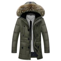 outdoor jackets uk - Fall Winter Plus Size Duck Down Parkas with Real Fur Hood Jacket Men Fashion Outdoor Business Coat Doudoune Manteau Homme Hiver Uk