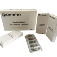 Wholesale Kangertech Atomizer Series - DHL Free Kangertech upgraded Dual Coils 1:1 clone Replacement Coil Heads for Kanger T3D Emow Aerotank Mega V2 Protank3 Giant Series Atomizer