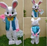 traje de coelho mascote adulto venda por atacado-2015 vender como bolos quentes PROFISSIONAL COELHINHO DE PÁSCOA MASCOTE TRAJE Rabbit Hare Adult