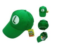 Wholesale Super Mario Bro Anime Mario Cap Cosplay New Best Gift super mario hat cotton Christmas Gifts DHL Free