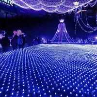 Wholesale Decoration Wedding Curtain Lights - 2x3m 210leds Led Net Light Curtain Lights Xmas Fairy Flash Lights Led Strings wedding Christmas Decoration